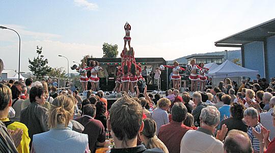 Gewerbeparkfest 2005 mit den Cheerleadern des FC Köln