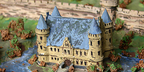 Modell des Sinziger Schloss
