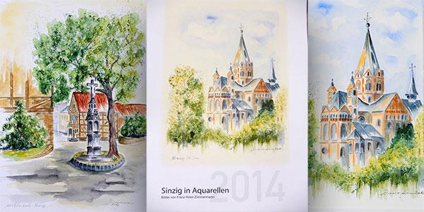 Der Kalender 2014 mit Aquarellen von Sinzig von Franz Peter Zimmermann