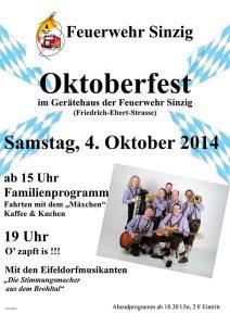 Oktoberfest bei der Feuerwehr Sinzig @ Feuerwehrgerätehaus Sinzig | Sinzig | Rheinland-Pfalz | Deutschland