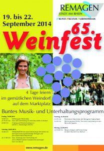 Weinfest in Remagen 19.9. - 22.9. @ Marktplatz Remagen | Remagen | Rheinland-Pfalz | Deutschland