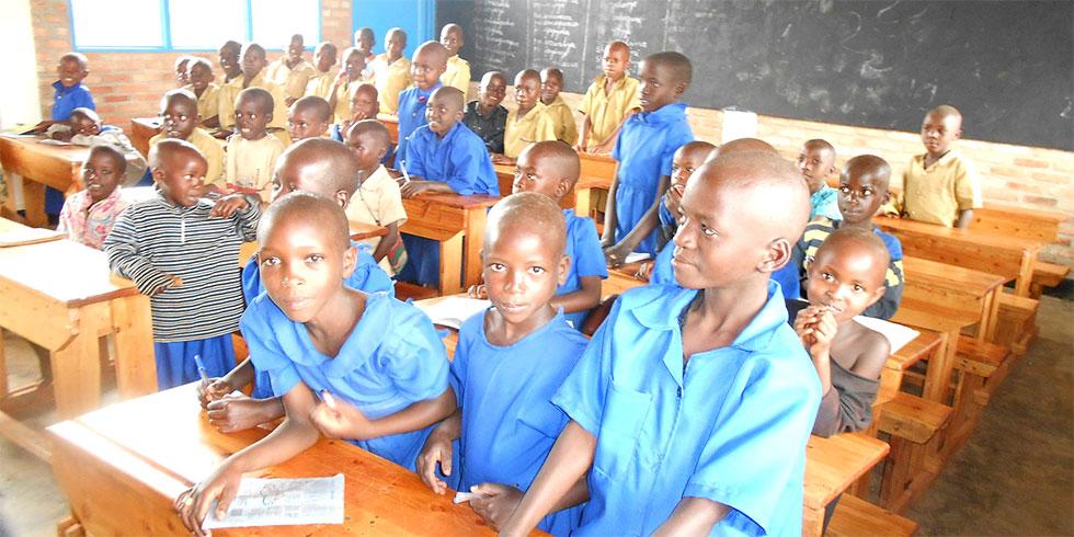 Ruanda Kinder in der Schule