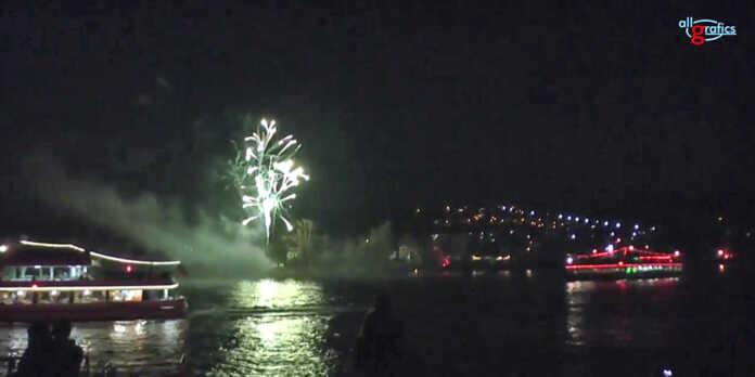 Rhein in Flammen in Bad Breisig und Bad Hönningen