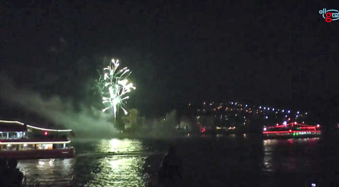 Rhein in Flammen in Bad Breisig und Bad Hönningen