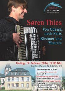 Klezmer und Musette @ Gewölbe im Zehnthof | Sinzig | Rheinland-Pfalz | Deutschland