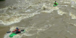 Hochwasser Ahrbrücke Kajak