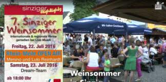 Sinziger Weinsommer 2016