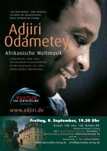 Adjiri Odametey - Kultur im Gewölbe @ Kultur im Gewölbe   Sinzig   Rheinland-Pfalz   Deutschland
