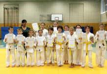 Judo-Kits Bad Breisig - Ende Juni fanden die Gürtelprüfungen für den weiß-gelben (8. Kyu) sowie für den gelben (7. Kyu) in der Turnhalle der Lindenschule Bad Breisig statt
