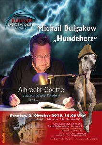 Albrecht Goette liest @ Gewölbe im Zehnthof | Sinzig | Rheinland-Pfalz | Deutschland