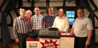 Bürgermeister besuchen OK4 Adenau Kürzlich informierten sich die Adenauer Bürgermeister vor Ort über den Adenauer Bürgerkanal e.V. (ABK) und die Arbeit bei der Bürgerfernseh-Plattform OK4 Adenau