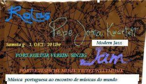 Pepe Joma Kwartett @ Portugiesischer Kulturverein Sinzig | Sinzig | Rheinland-Pfalz | Deutschland