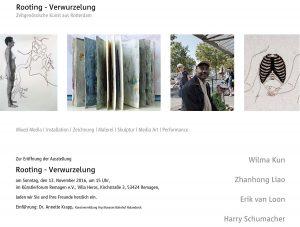 ROOTINGS – Verwurzelung – Künstlerforum Remagen @ Künstlerforum Remagen