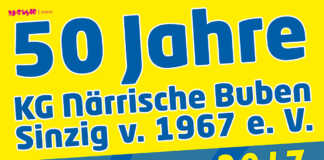 Wir feiern 50 Jahre KG Närrische Buben Sinzig
