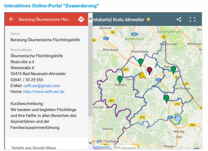 Online-Portal für Flüchtlingshelfer