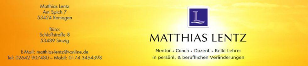 Matthias Lentz - Mentor Coach Dozent