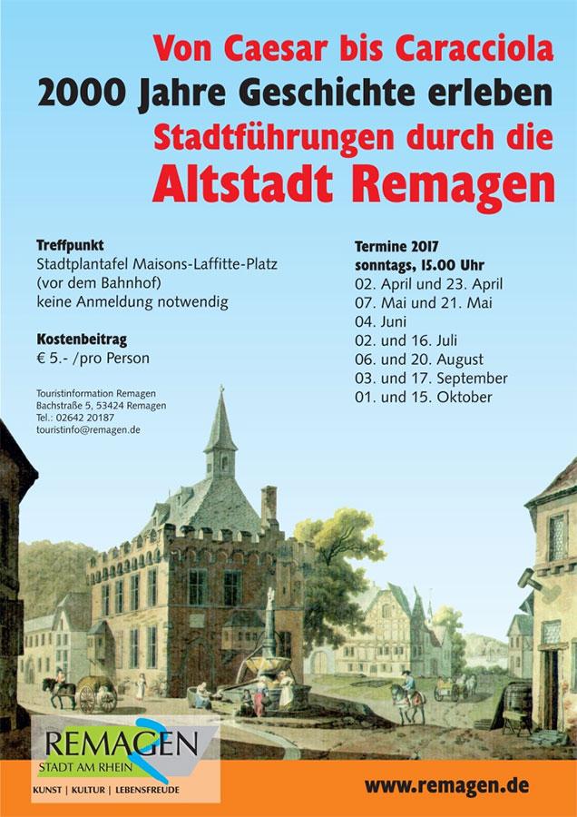Stadtführung Remagen Saison 2017