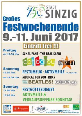 750 Jahre Stadt Sinzig Festwochenende @ Sinzig | Sinzig | Rheinland-Pfalz | Deutschland
