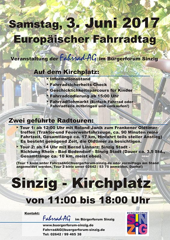 Europäischer Fahrradtag auf dem Kirchplatz