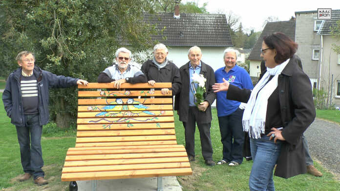 Neue Ruhebank im Rosengarten Sinzig - der Film