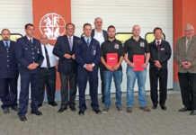 Übergabe des Bereitstellungsraumes an die Freiwilligen Feuerwehren Bad Breisig