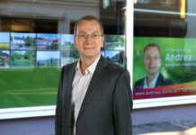 Bürgermeisterkandidat Andreas Geron gestaltet ehemaligen CAP-Markt für das Stadtfest