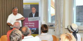 Manfred Ruch startete seine Tour in Franken