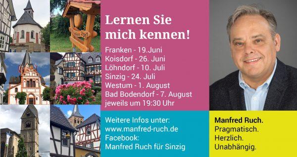 Manfred Ruch geht auf Tour @ Sinzig und Stadtteile