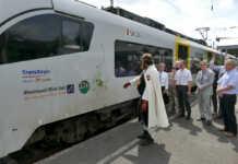 MittelrheinBahn-Zug namens Sinzig getauft - der Film