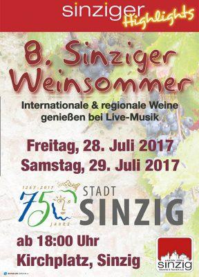 Sinziger Weinsommer 2017