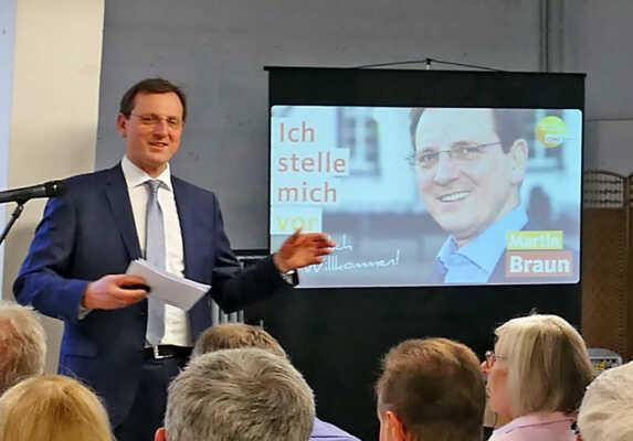 Bürgermeisterkandidat Martin Braun @ Krupp Medienzentrum | Sinzig | Rheinland-Pfalz | Deutschland