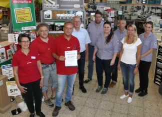 Bernd Daberkow 25 Jahre bei Baustoffe Moeren