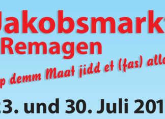Traditioneller Jakobsmarkt am 23. und 30. Juli in Remagen