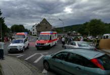 Verkehrsunfall mit einer leicht und einer schwer verletzten Person