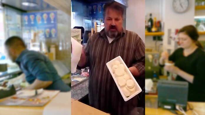 Eiscafé Vallazza 18 Kugeln in der Kühl-Box