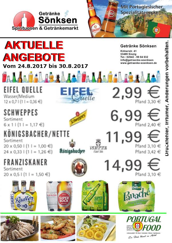 Getränke Sönksen Angebote und PORTUGAL FOOD