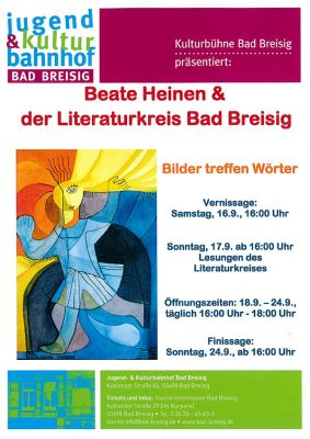 Beate Heinen Ausstellung im Kulturbahnhof @ Jugend- und Kulturbahnhof | Bad Breisig | Rheinland-Pfalz | Deutschland