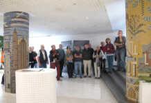 Sinziger Fliesen – in Werkhallen, Foyer und Museum