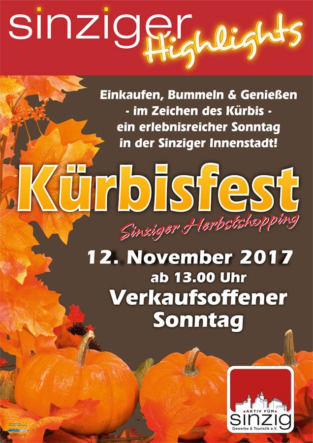 Kürbisfest 2017 Aktiv für Sinzig am 12. November 2017