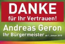 Andreas Geron sagt Danke
