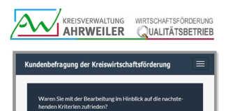 Kundenbefragung: 1.700 Betriebe und Institutionen im AW-Kreis angesprochen