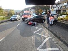 Verkehrsunfall mit zwei Verletzten Jugendlichen