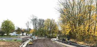 Bauarbeiten in der Kripper Straße in Sinzig