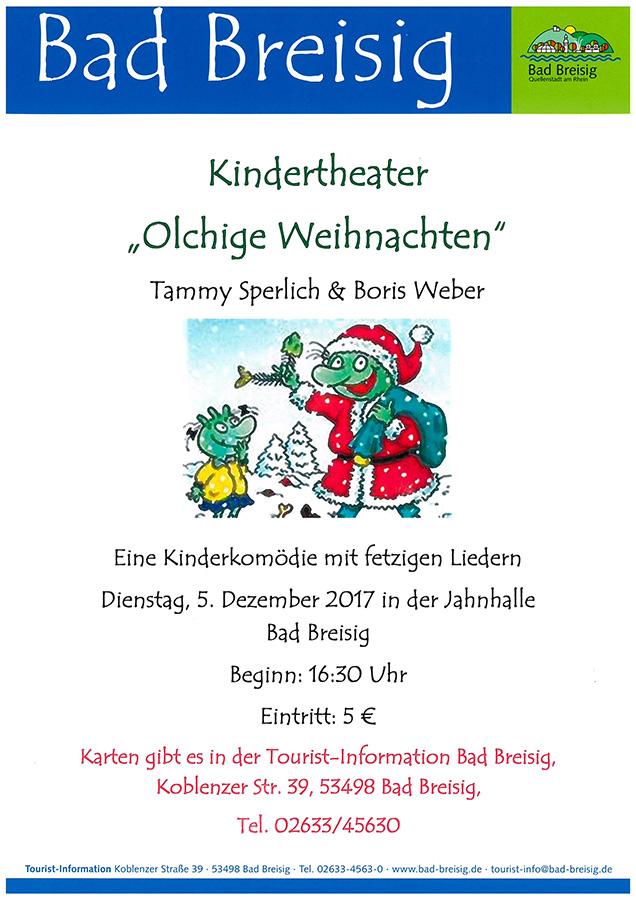 """Kinderkomödie """"Olchige Weihnachten"""" in Bad Breisig"""