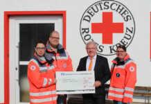 DRK Sinzig freut sich über 500 Euro von der Volksbank Koblenz Mittelrhein für neues Beatmungsgerät