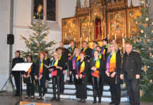 "Gospelchor Burgbrohl beeindruckte mit den ""Canticle of Christmas"""