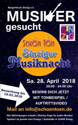 Dritte Sinziger Musiknacht 2018