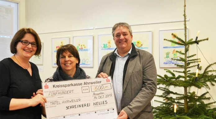 500 Euro für die Tafel Ahrweiler