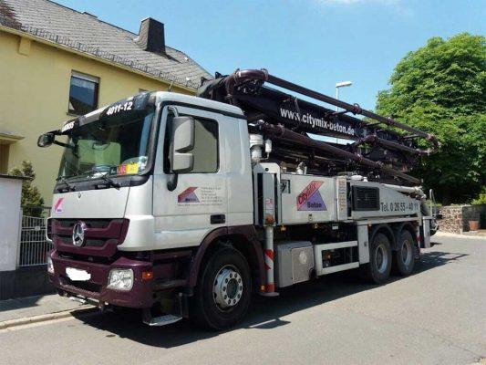 Diebstahl LKW mit Betonpumpe