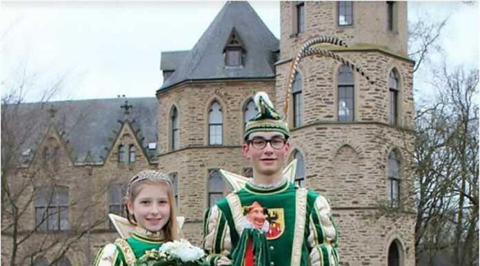 Cedric 1 und Lena 1 sind das diesjährige Sinziger Kinderprinzenpaar